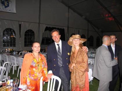 ТК, дочь Анастасия и директор Institut le Rosey Филипп Гудан